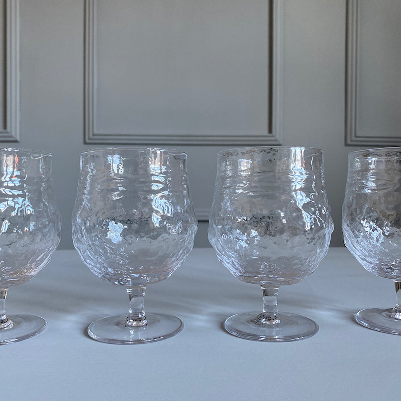 clear textured wine goblets glasses drinkware french country collections