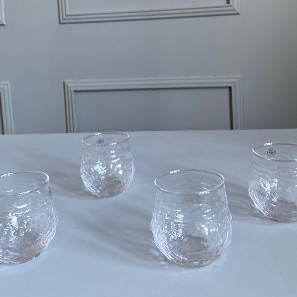 textured clear glass drinking glasses tumblers french country collections