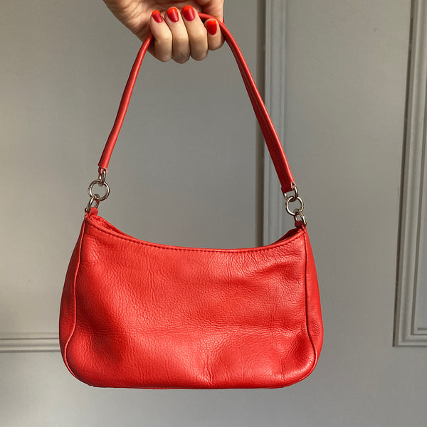 patricia saddle shoulder bag pure leather in red by johnny ramli