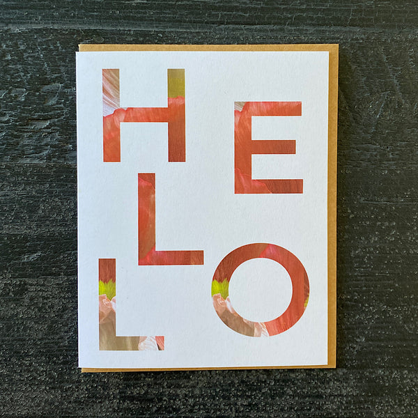 Blooming Type Card | Hello