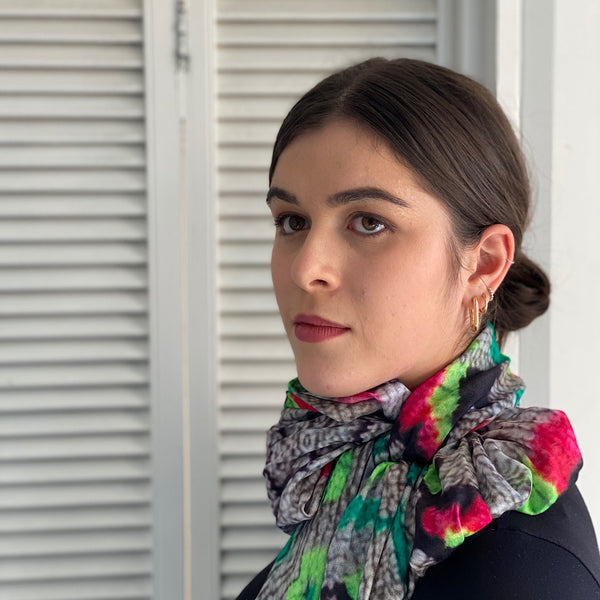 berber fluro print scarf exclusive to Jim & Jane Sydeny