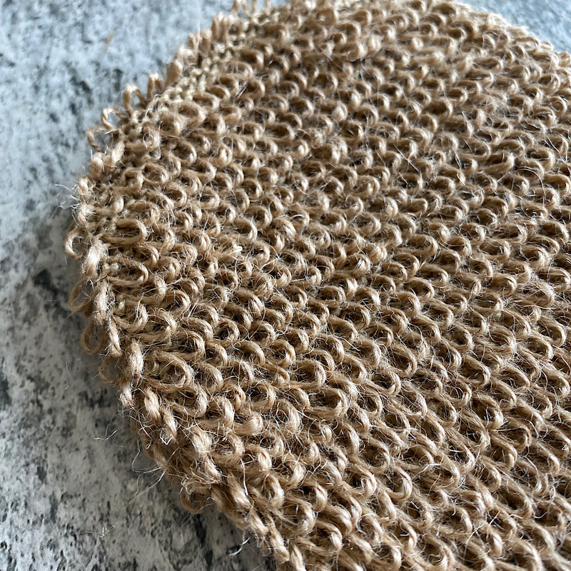 natural hemp exfoliating body mitt