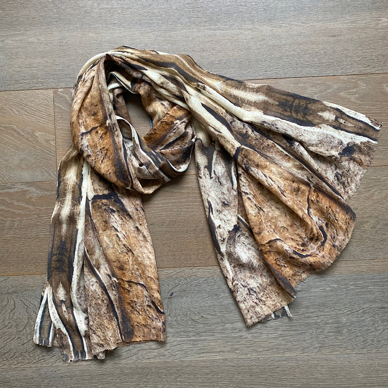sandstone print annandale cashmere scarf exclusive to jim & jane