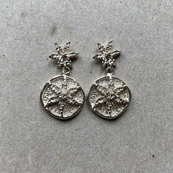 sterling silver handmade queen of sheba orchid earrings
