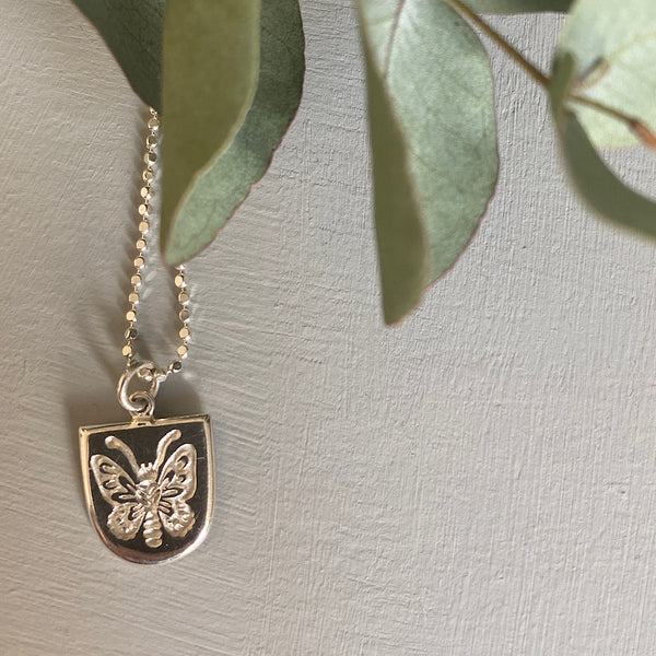 Richmond Birdsong Butterfly Silver Necklace
