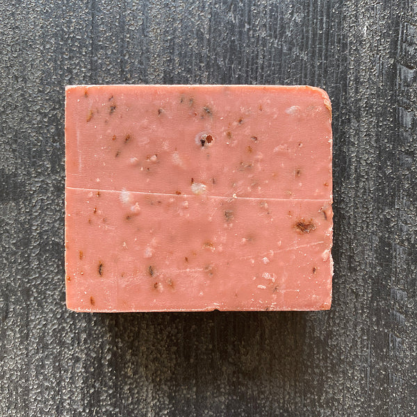 church farm general store rose, australian pink clay and almond oil soap