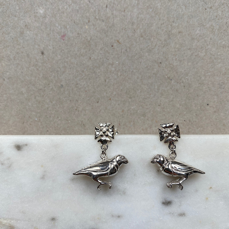 Save The Bird Silver Earrings