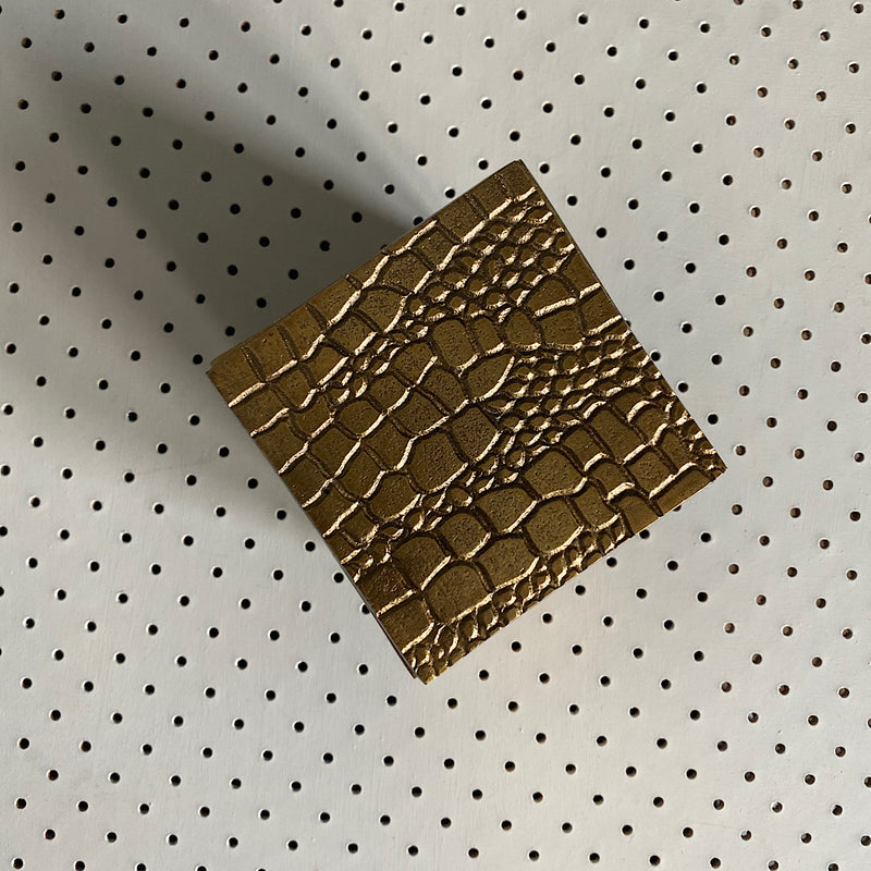 french country collections snake gold trinket box