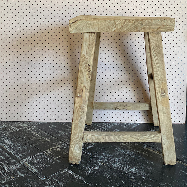 vintage elm timber repurposed stool chair