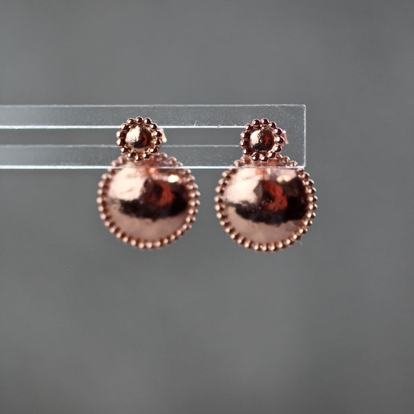 debra textured ear jackets earrings in rose gold by jim and jane sydney