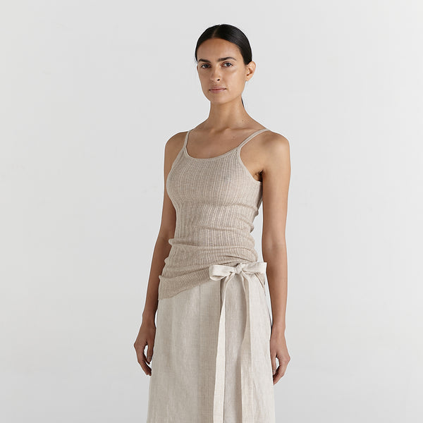 june tank top cotton and merino wool by marle new zealand