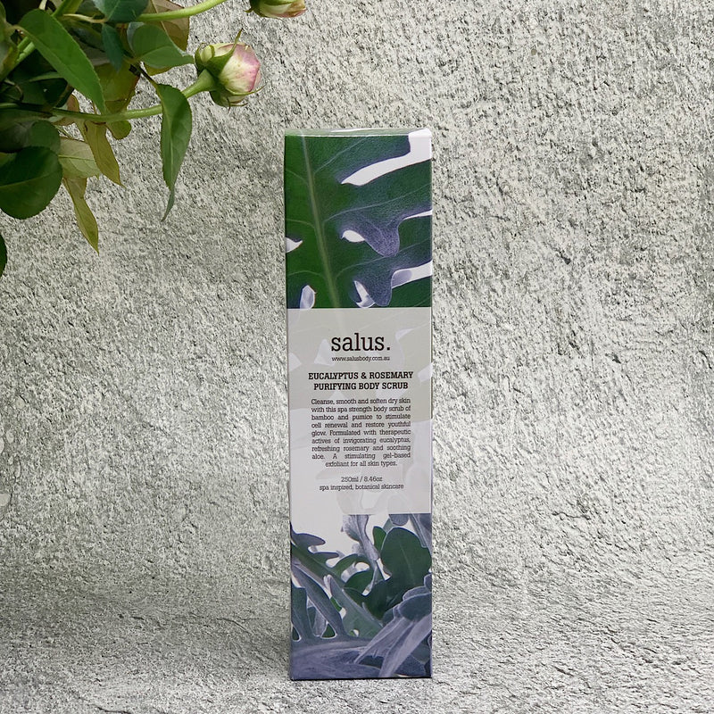 A box of Eucalyptus scrub from Salus
