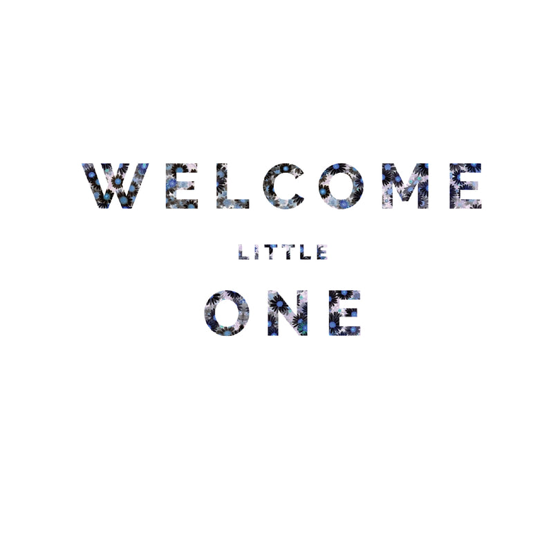 welcome little one floral greeting card