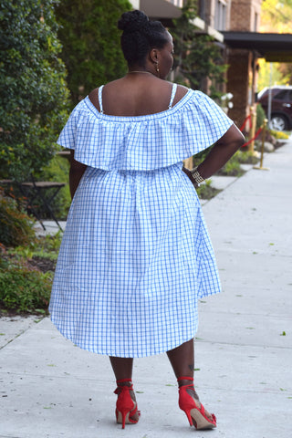Curvy Check Hi Low Dress