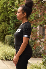 Black Pearl Love Puffy Sleeve Tee