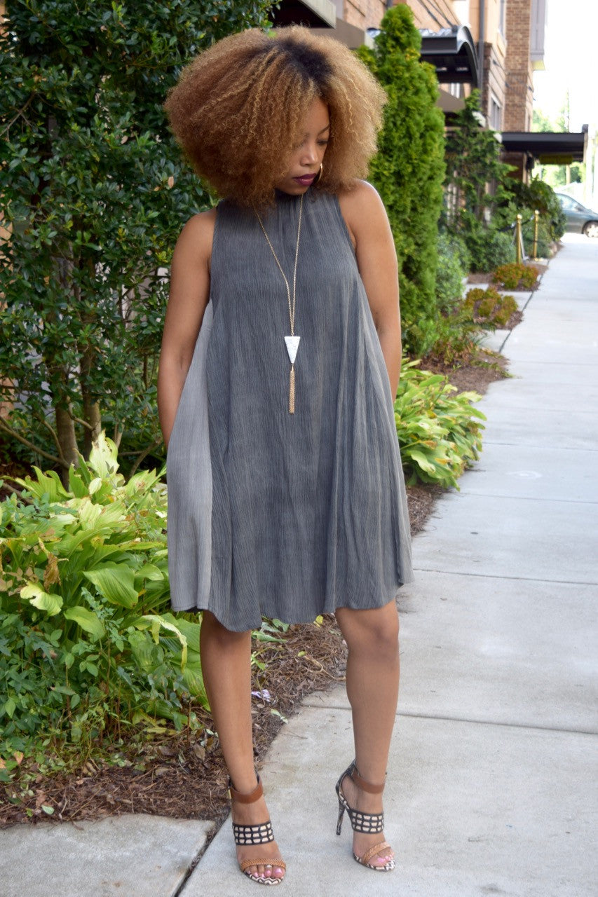 Two Tone Swing Dress