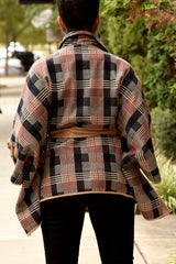 Plaid Cape Coat