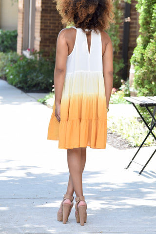 Ombre Keyhole Dress