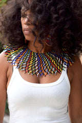 Africa Bead Bib Necklace