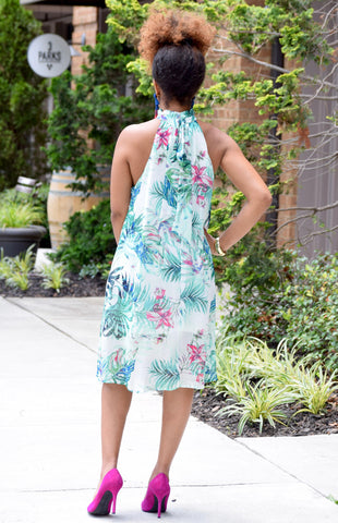 Floral Necktie Dress
