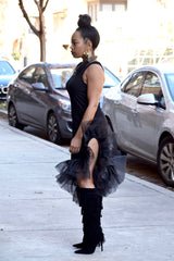 High Thigh Tank Tulle Dress