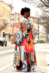 Plus Size Pop Art Dress