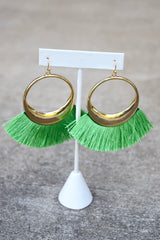 Circle Fan Tassel Tangles Solid - 2 Colors
