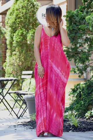 Dip Dye Drape Maxi Dress