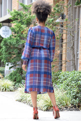 Plaid Wrap Dress