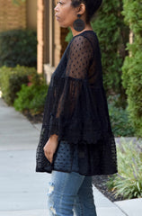 Flowy Bell Sleeve Lace Top