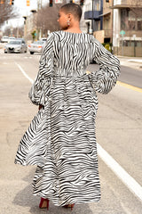 Zebra Print Hi Lo Dress
