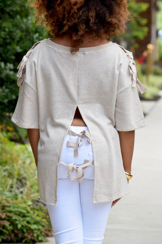 Cut Out Tie Back Top