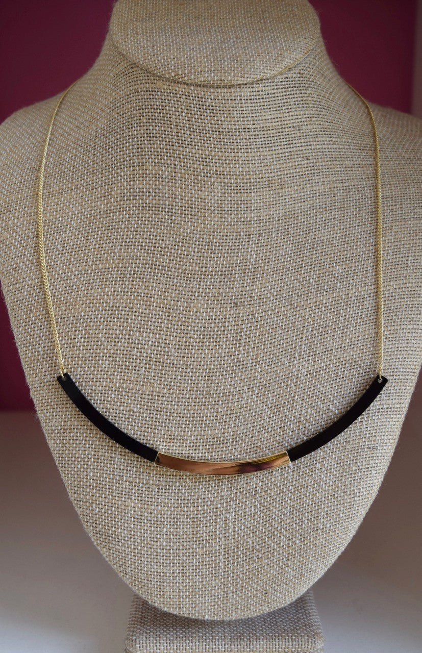 Bent Bar w/Plate Necklace