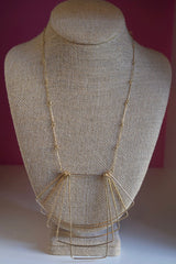 Wire Layer Overlap Necklace gold