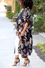 Tropical Print Duster