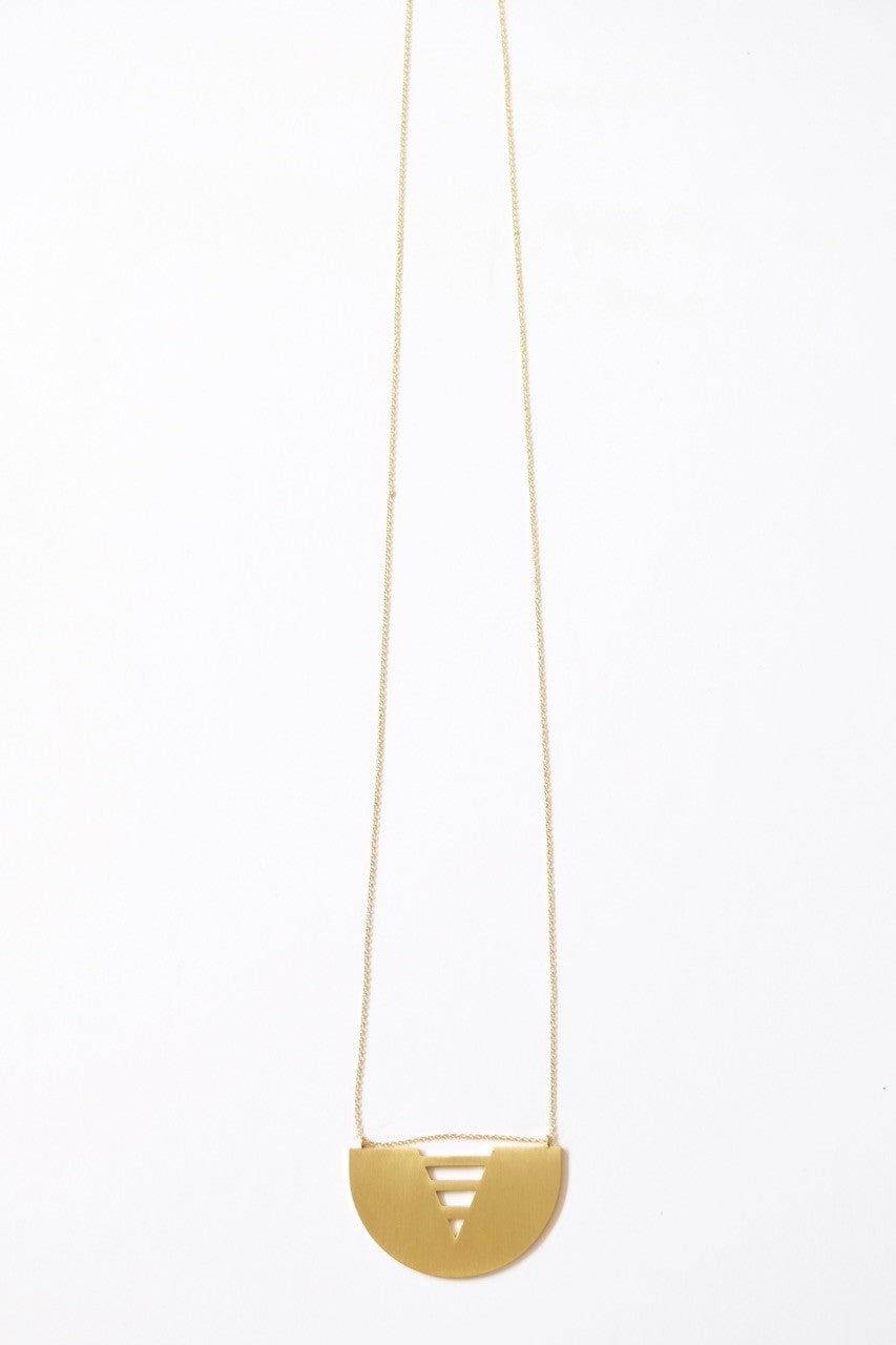 Dainty Half Moon Necklace