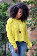 Cable Knit Chunky Sweater