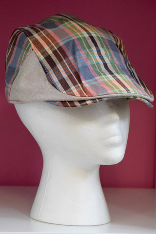 Ivy Cap- Contrast Plaid -2 colors