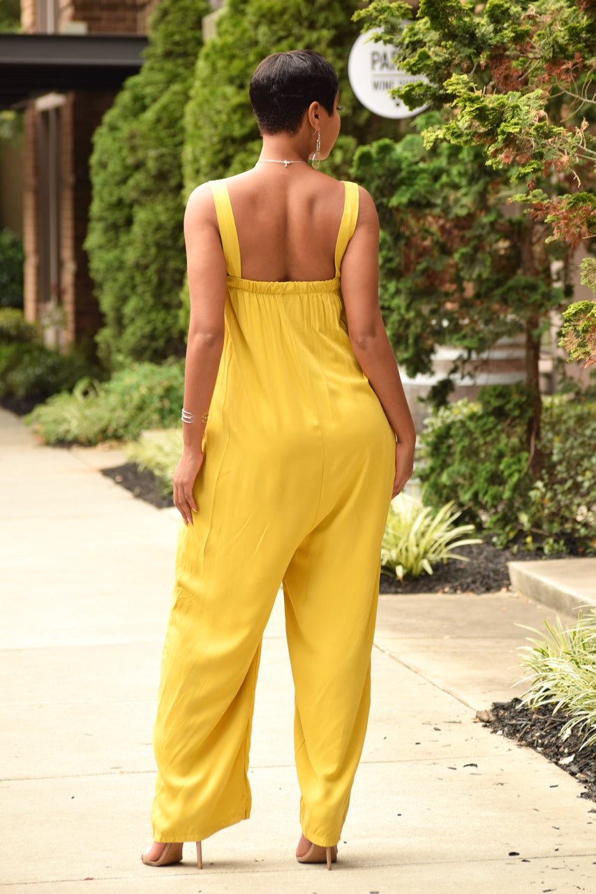 Chartreuse Flowy Overall Jumper