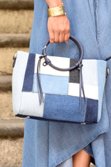 Denim Patchwork Tote