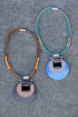 Abstract Circle Pendant Necklace