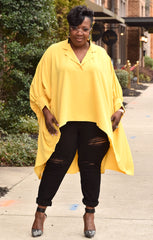Oversize Yellow Blouse