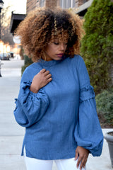 Ruffle Bell Sleeve Top