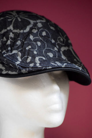 Ivy cap- Dark Denim Floral