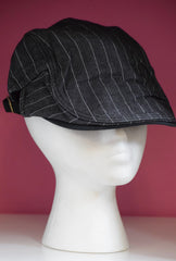 Ivy Cap- Black Denim Pinstripe