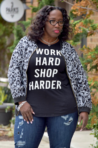 Curvy Shop Harder Tee