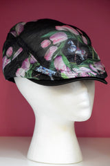 Ivy Cap- Sheer Floral Black