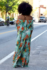 Tropical Pleat Maxi