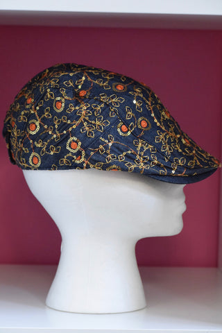 Ivy Cap- Denim Sequin