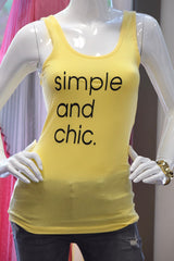 Simple & Chic Tank- Yellow